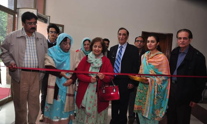 Painting Exhibition by famous painters Shahzad Hameed and asim Minto at Rawalpindi Arts Council. Ms Samina Amin Qadir Vice Chancellor Fatima Jinnah Women University was the Chief Guest.